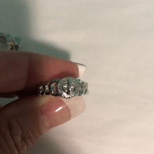 New Marc Jacobs silver tone curb link ring. Size 8